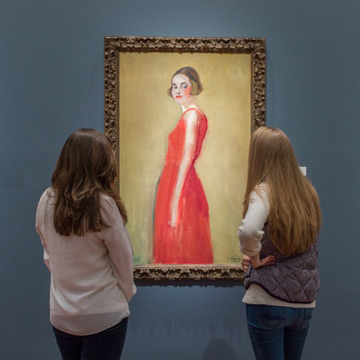 Looking at portrait